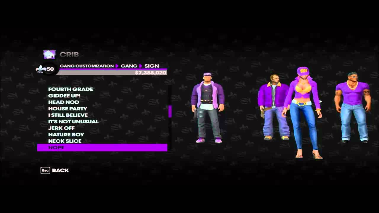 Saints row the third-Gang customization - YouTube