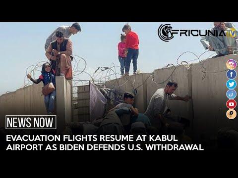 Evacuation flights resume at kabul airport as Biden defends U.S. withdrawal