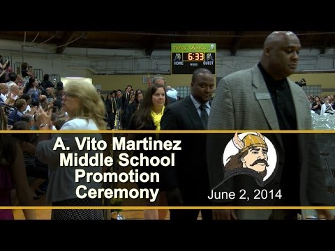 A Vito Martinez Middle School 8th Grade Promotion Ceremony 2014