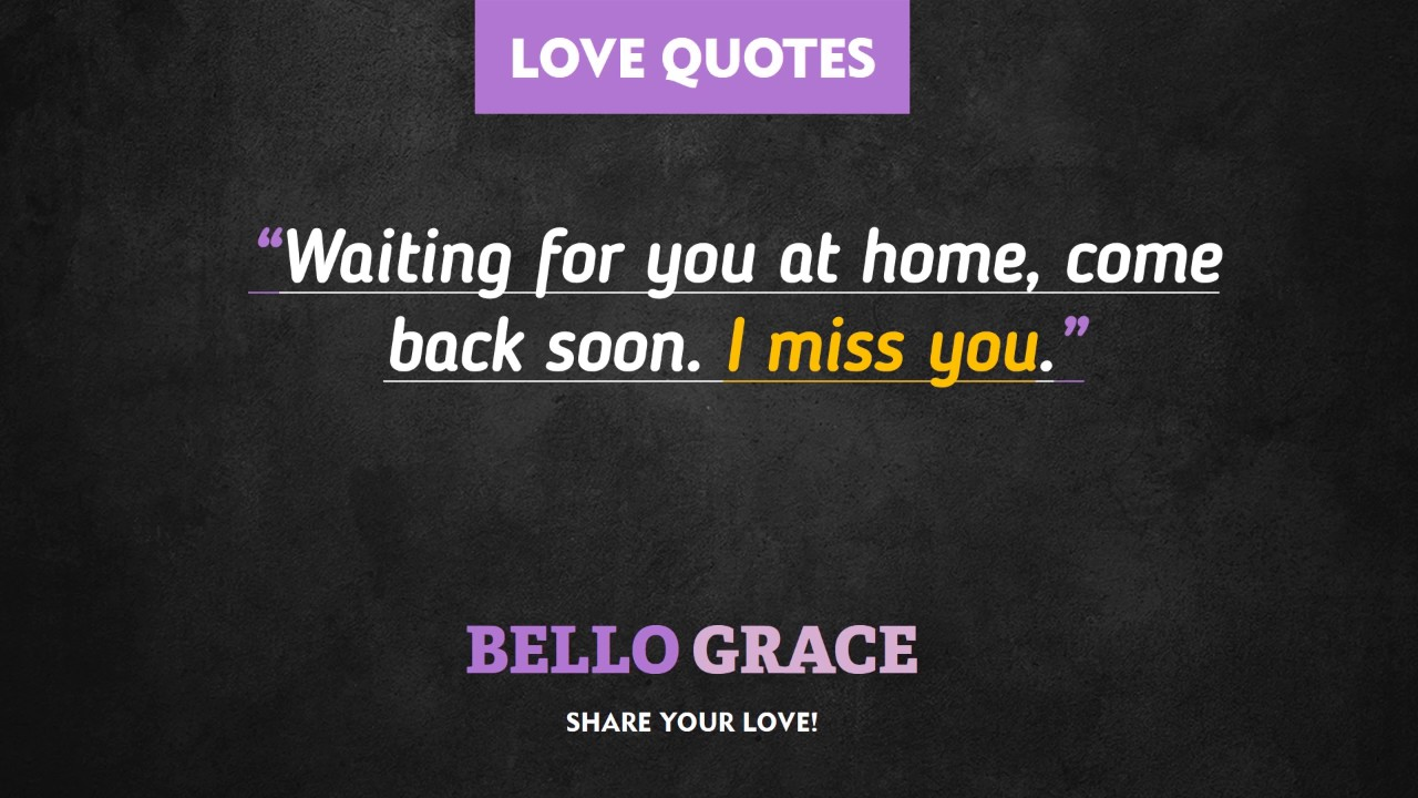 Best Love Quotes Waiting For You At Home Youtube