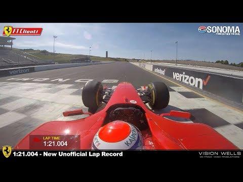 2019 Ferrari Corse Clienti Sonoma Raceway -  Marc Gene F2004 Record Lap
