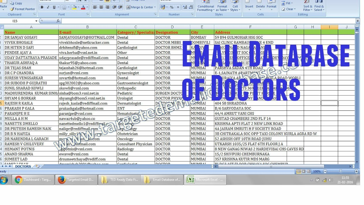 Email Database of Doctors