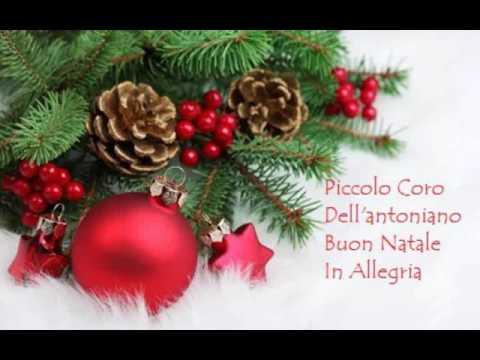 Testo Della Canzone Buon Natale In Allegria.Piccolo Coro Dell Antoniano Buon Natale In Allegria Youtube