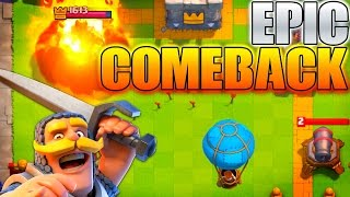 I THOUGHT I LOST! Clash Royale Final Second Comeback Win!