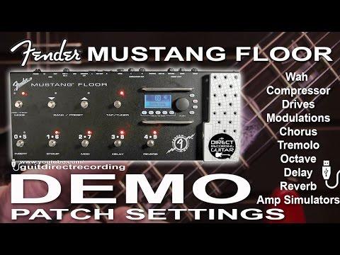 FENDER MUSTANG FLOOR USB Recording, Amp Simulators, Distortions, Modulations, Delays...