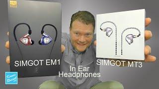 SIMGOT EM1 & MT3 In Ear Headphones Review