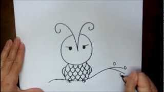 How To Draw An Owl Step By Step Easy Beginner Cartoon Drawing Tutorial