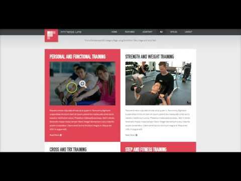 JoomlaXTC Template Tutorial: Fitness Life Part 1