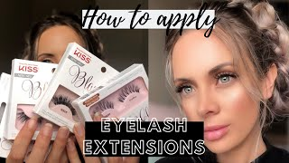 HOW TO APPLY FALSE LASHES/KISS BLOWOUT LASH