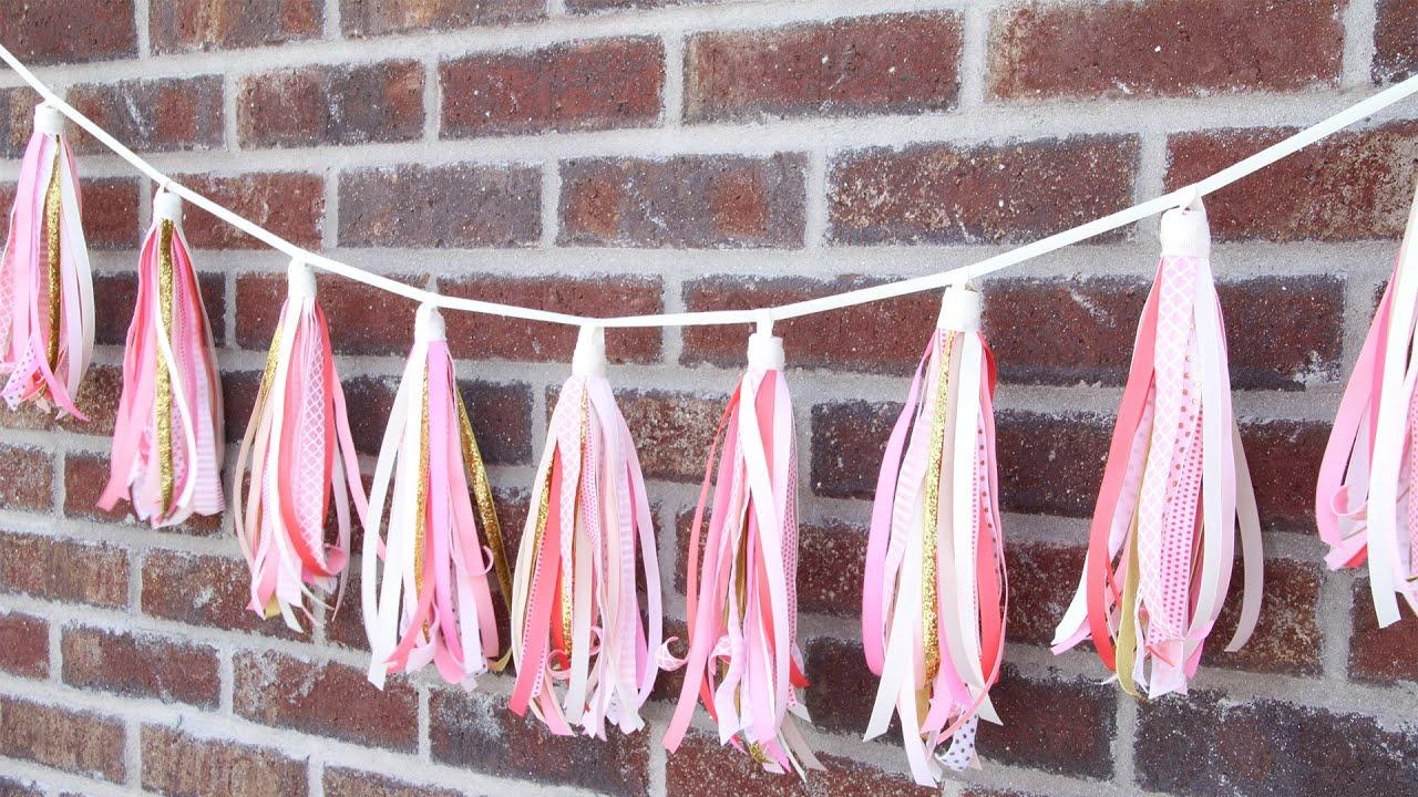 ribbon tassels garland