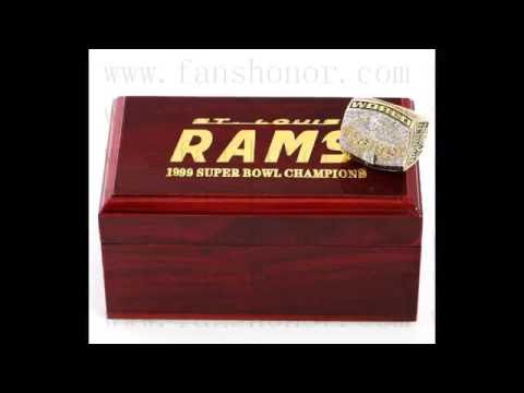 Custom NFL 1999 Super Bowl XXXIV St. Louis Rams Championship Ring