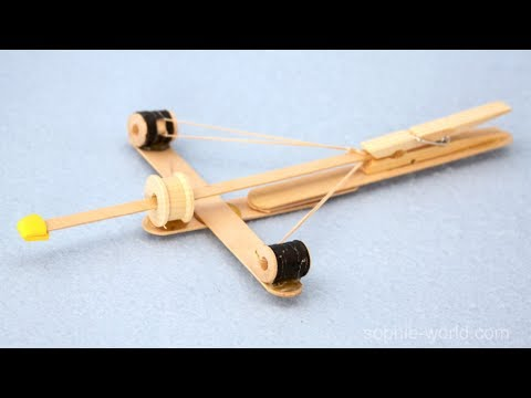 Thumbnail: How to Make a Crossbow out of Popsicle Sticks | Sophie's World