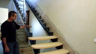 як зробити сходи на другий поверх з металу фото