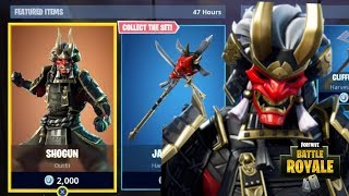 NEW SHOGUN SKIN - JAWBLADE PICKAXE - KABUTO GLIDER FORTNITE ITEM SHOP UPDATE Fortnite Battle Royale