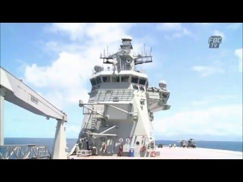 Fiji media tour HMAS Canberra