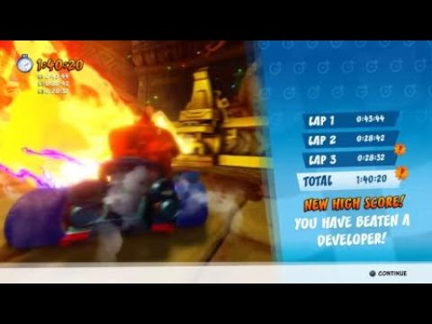 Crash™ Team Racing Nitro-Fueled - Tiny Temple Developer Time Trial - Vincent A Ghost