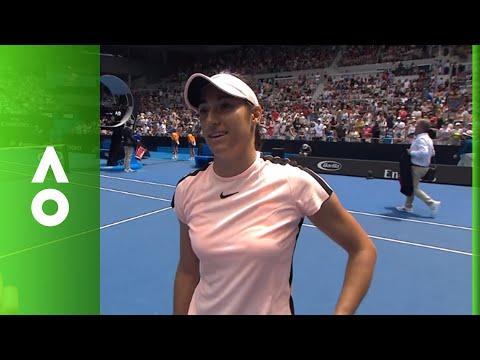 Caroline Garcia on court interview (3R) | Australian Open 2018