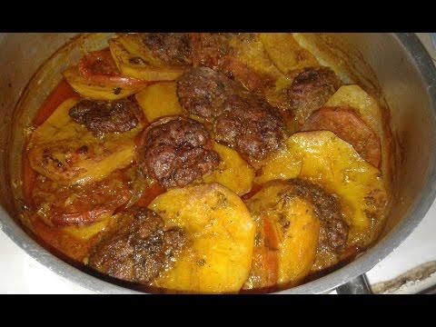 طبق البطاطس باللحم المفروم فكرة لعشاء سهل لذيذة جداا👌👌