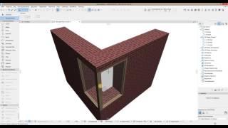 как сделать угловое окно в ArchiCad
