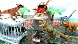 Jurassic World Dinosaur Map Takara Tomy Dinosaur Adventure Volcano Battle And Dino Prison Break