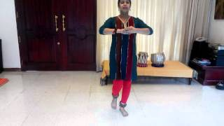 Learn Kathak (English): Step 3 Tatkar- basic foot work: Indian Classical Dance by Acharya Pratishtha
