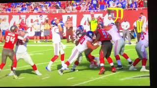 Giants vs Buccaneers: Saquon Barkley Injury (Carried Off Field)