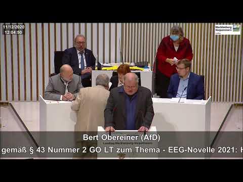 Bert Obereiner: Die EEG-Novelle ist Murks, die Energiewende ist Murks!