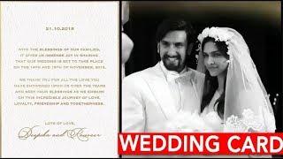 """Good News! """"Deepika Padukone"""" """"Ranveer Singh"""" Confirm November Wedding"""