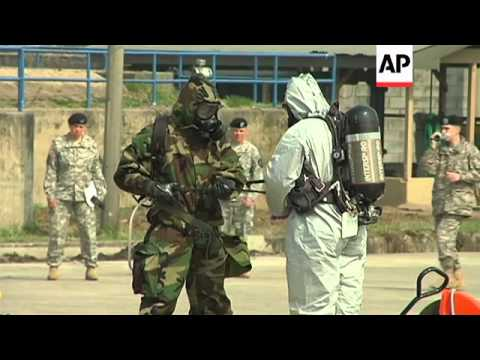 US Army 23rd Chemical Battalion demonstrate equipment