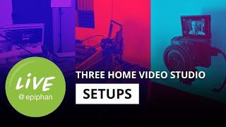 Sharing our home video studio setups