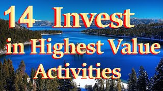 Lesson 14 Invest Your Time in Highest Value Activities