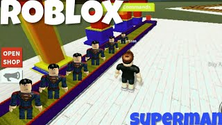 ROBLOX-CREATED a SUPERMAN FACTORY!