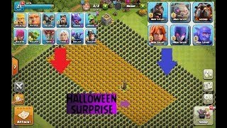 ALL MAX GROUND TROOPS vs 999 BOMBS |CLASH OF CLANS PRIVATE SERVER| 2017