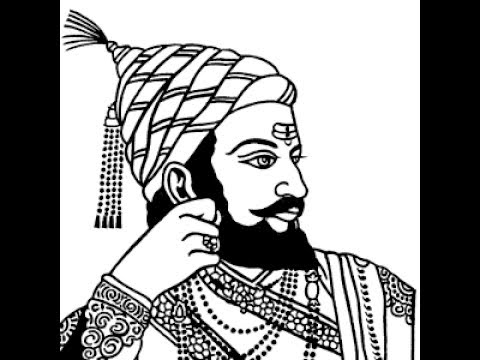 How to draw shivaji maharaj face pencil drawing step by step