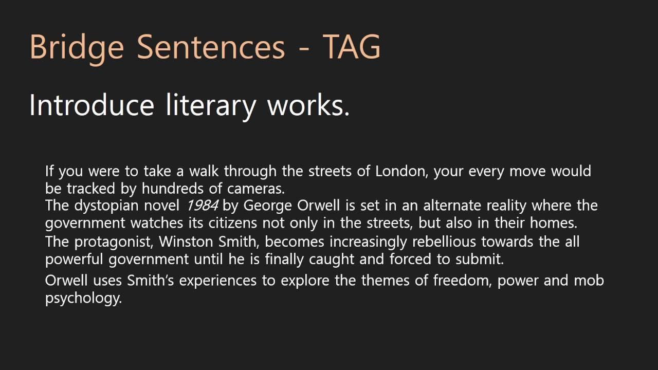 Essay Writing  Introductions  5 Bridge Sentences