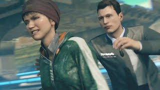 Kara whacks super agent Connor in Detroit Become Human.