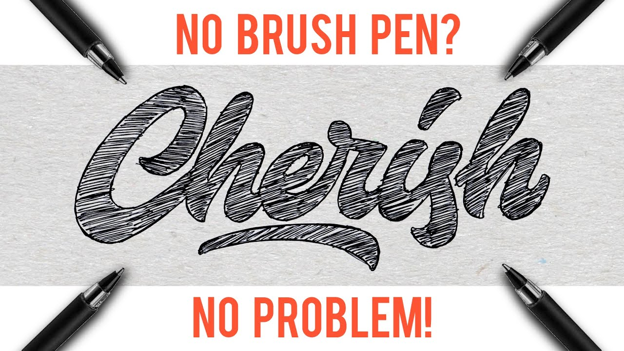 Hand lettering tutorial for beginners no brush pen
