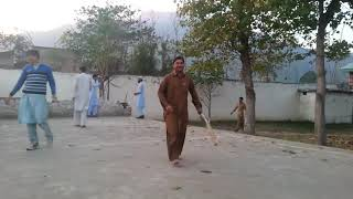 Playing funny Cricket With Sweet Friends.