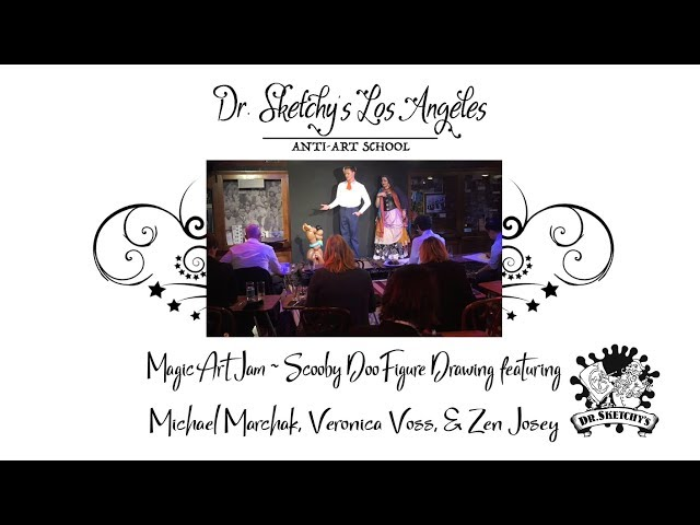 Dr. Sketchy's Los Angeles ~ Magic Castle Art Jam with Michael Marchak, Veronica Voss, and Zen Josey