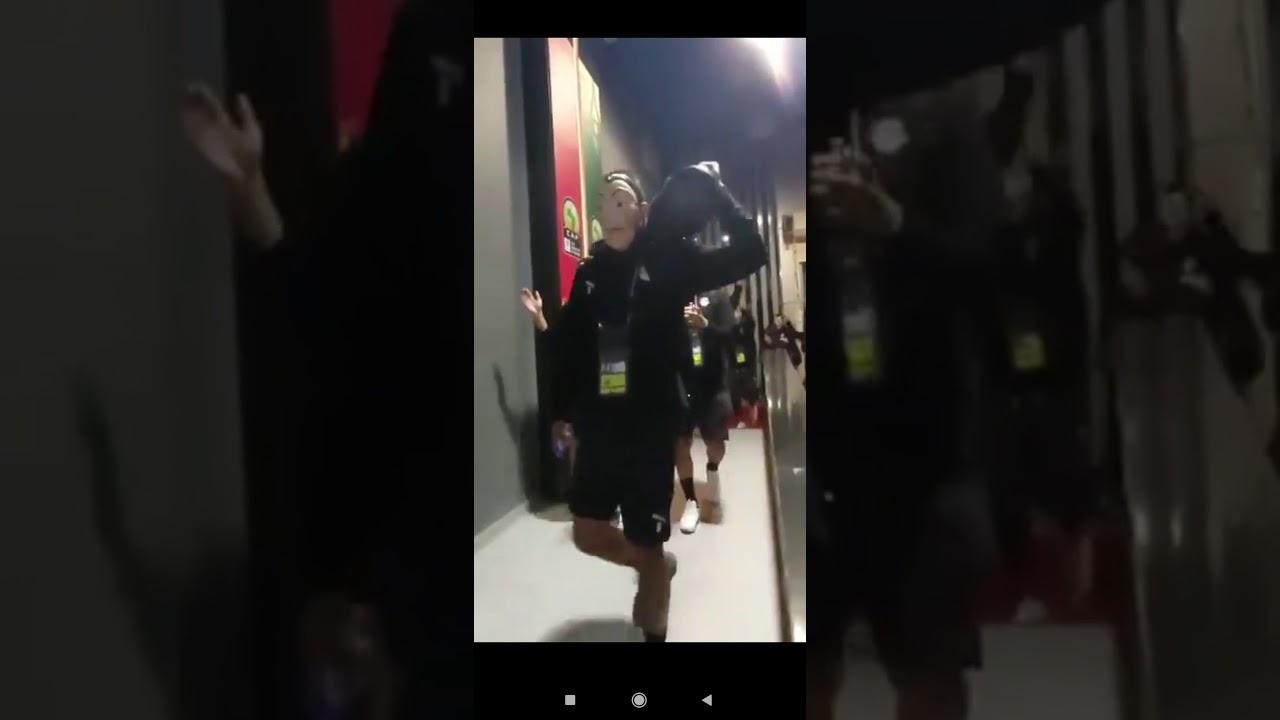 لحظة وصول منتخب مصر الاوليمبي بالاقنعه