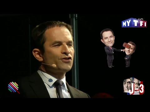 En meeting, Benoît Hamon tape subtilement sur ses adversaires - Quotidien du 20 Avril 2017