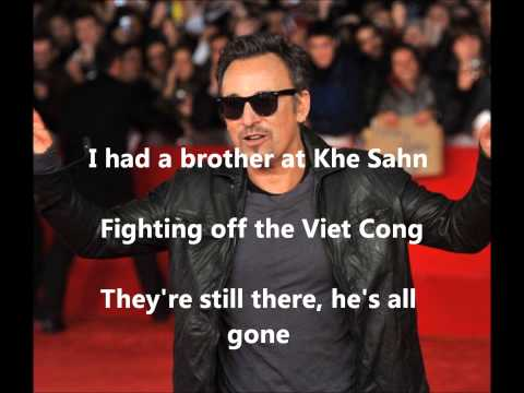 Bruce Springsteen Born in the U.S.A w/ lyrics