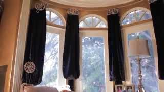 Curtains For Bay Windows (bishop, Valance, Swags, Panels, Etc.) Galaxy-design Video #39