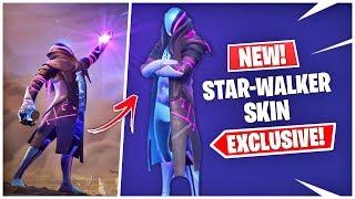 NEW EXCLUSIVE STAR WALKER SKIN IN FORTNITE! GALAXY SKIN V2 LEAKED (ENCRYPTED STAR WALKER SET)