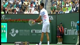Djokovic vs Isner Indian Wells 2012 last moments
