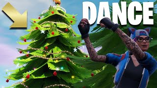 "Fortnite: Christmas Tree Locations ""Dance in Front of Christmas Trees"""