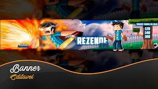 Banner Minecraft Editável