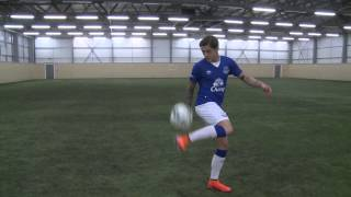 Muhamed Besic shows his skills in new Everton 2015/16 kit