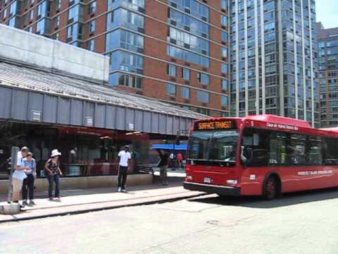 Roosevelt Island Operating Corporation bus at Roosevelt Island station