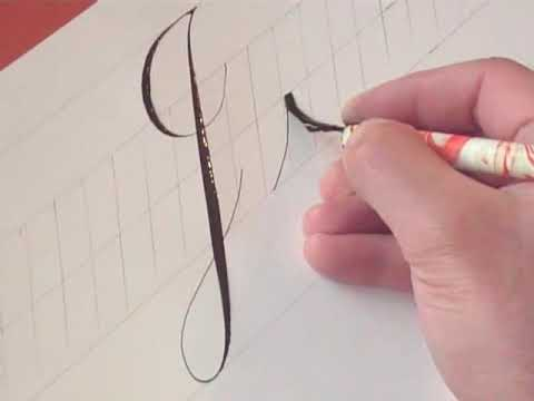 How to Write Copperplate (The Letters J and j)